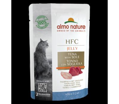 Almo Nature Cat HFC Tuna&Sole Fillets Jelly konserv kassidele tuunikala ja lestaga, 55 g Kassikonservid