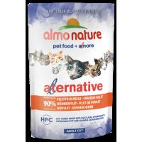 Almo Nature Alternative 100% naturaalne kassikonserv kanafileega, 55 g