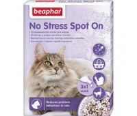 Beaphar No Stress Spot On Cat - rahustava toimega eeterlike õlide spot on kassidele, 3*0,4ml