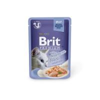 Brit Premium Salmon Fillets in Jelly märgtoit kassidele lõhefilee tarrendis, 12x85g