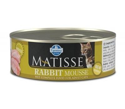 Farmina Matisse Cat Mousse Rabbit konserv küüliku lihaga täiskasvanud kassidele, 12x85g
