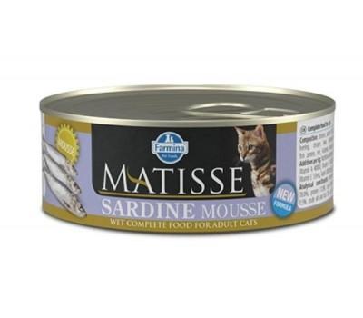 Farmina Matisse Cat Mousse Sardine konserv sardiinidega täiskasvanud kassidele, 12x85g