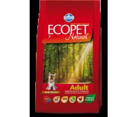 Farmina Ecopet täissööt kanaga väikest tõugu täiskasvanud koertele, 12kg