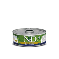 FARMINA Prime/Grain Free Lamb&Blueberry konserv täiskasvanud kassidele (lamb, mustikas), 6x80g