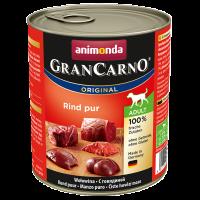 Animonda Gran Carno Adult veiseliha konservid täiskasvanud koertele, 6x800 g