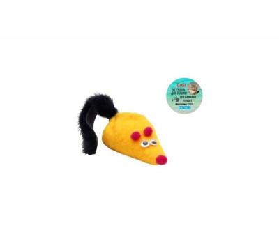 GoSi kassi mänguasi Hiir piiksuga ja naaritsast sabaga, 6cm Kassi mänguasjad