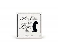 Beeztees dbl keraamiline silt love dog 14,5x14,5cm valge