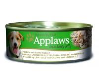 Applaws koera konserv zelees kana/lammas 156g n1