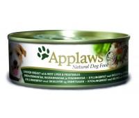 Applaws koera konserv kana/maks/köögivili 156g n1