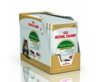 Royal Canin Maine Coon täissööt kastmes täiskasvanud ja eakatele Maine Coon kassidele, 12x85 g
