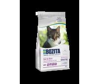 BOZITA HAIR & SKIN WHEAT FREE SALMON / Полнорационное питание для взрослых и растущих кошек 400g